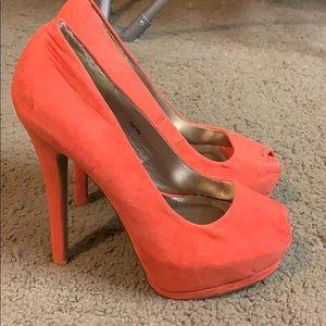Orange Charlotte Ruesse heels